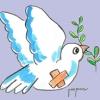 La Paloma de la Paz esparce octavillas