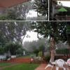 La lluvia inspiradora y refrescante