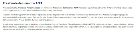 Nota de AEFA