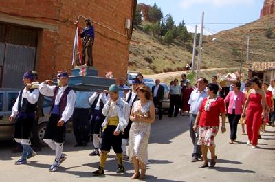 Momento durante la procesion