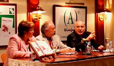 Concha Prieto, Francisco Ponce y Baltasar Bueno en la presentacion