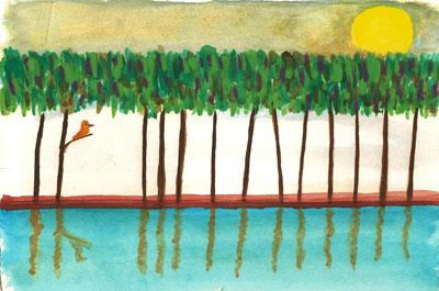 Descanso en el lago