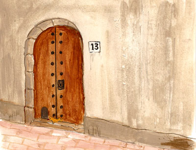 Puerta con gatera