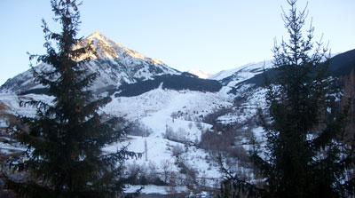 Paisaje nevado en Alfambra