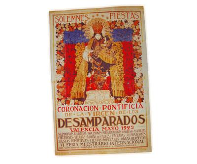Cartel conmemorativo de la Coronación de la Virgen