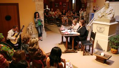 Panoramica del recital en el Circulo de Bellas Artes