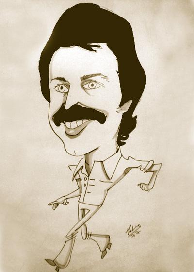 Caricatura del escritor Francisco Ponce
