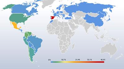 Estadisticas de entradas del mes de mayo a nivel mundial