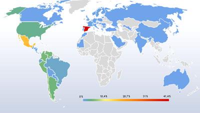 La web de Francisco ponce se visita en todo el mundo