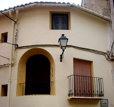 Calle del Conde en Castellnovo
