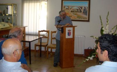 Presentador del acto, Miguel Morata