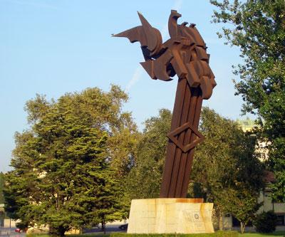 Monumento al escudo de la Ciudad de Valencia