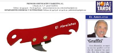 Cabecera del escritor Francisco Ponce en periodico Hoja de la tarde de Valencia