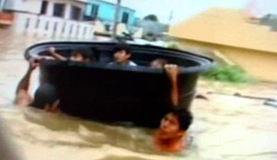Inundaciones en la zona de Tabasco en Mexico