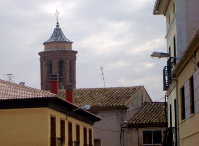 Vista del campanario de la iglesia de Santa Eulalia