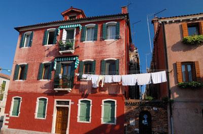 Casas tipicas de la ciudad de Burano