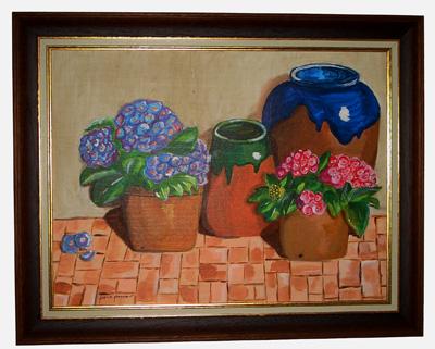 Cuadro titulado Flores y barro