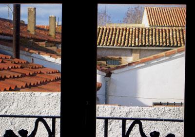 Vista de tejados desde la ventana