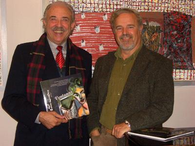 Francisco Ponce, junto al presidente de C.L.A.V.E. Pedro J. de la Peña