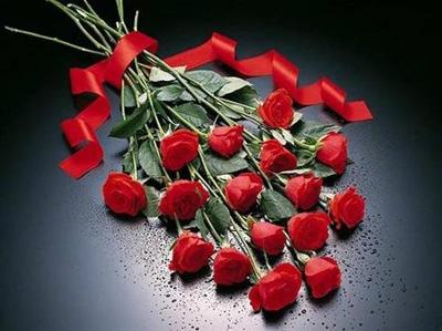 Ramo de rojas flores