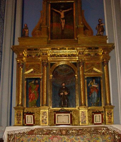 Altar de la Anunciacion restaurado de la ermita Virgen del Molino
