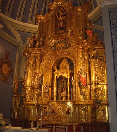 Altar mayor de la ermita Virgen del Molino