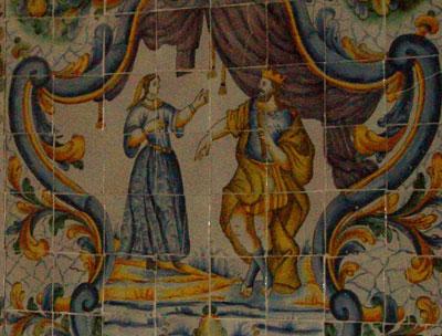 Judith es recibida por Holofernes con todos los honores