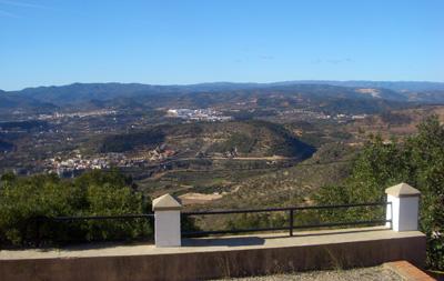 Vista desde el mirador del Alto Palancia