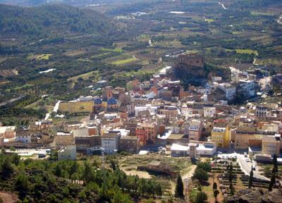Panoramica de la localidad de Castellnovo
