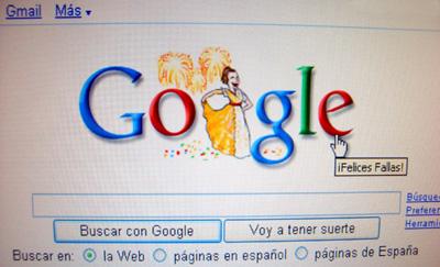 Google con las Fallas 2008