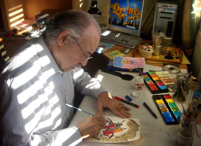 Francisco Ponce en su estudio