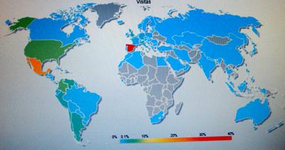 Estadisticas del primer trimestre 2008 de la web de Francisco Ponce