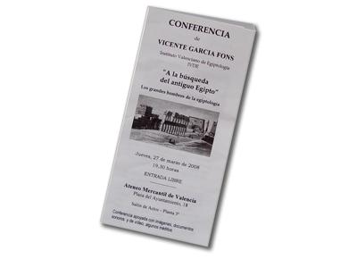Triptico de la conferencia