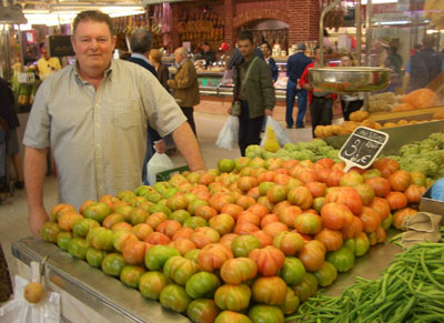 Puesto de tomates