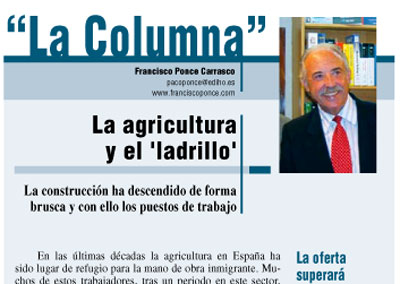 La agricultura y el ladrillo