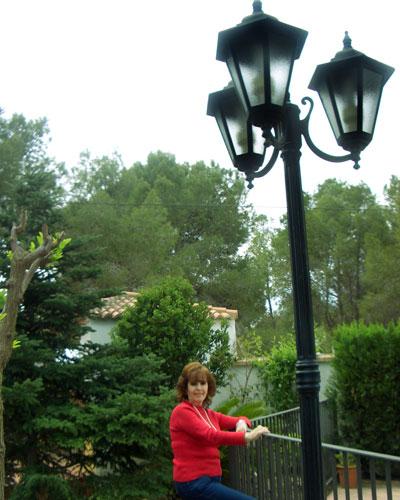 Marichu en el jardin