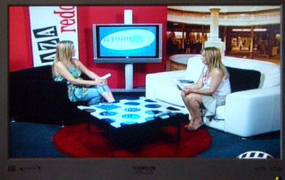 Sylvia y Amparo durante el programa televisivo