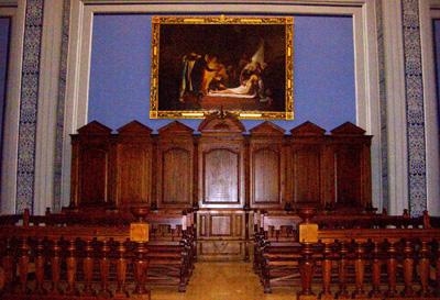 Pintura de Agustin Alegre y el coro