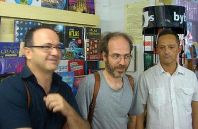 Uberto Stabile, Enrique Falcón y Daniel Bellón