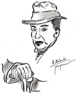 Antonio Machado (dibujo de pacoponce)