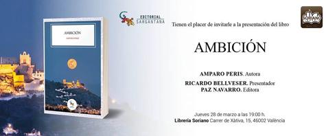 """""""Ambición"""" libro de Amparo Perís"""