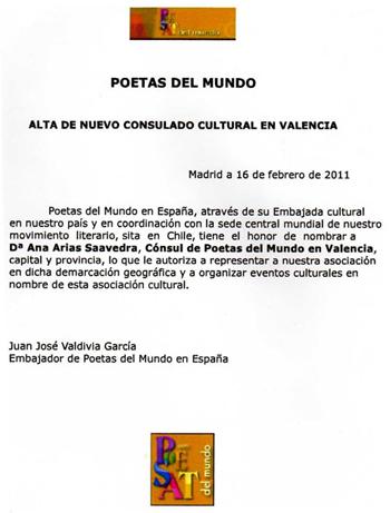 Nombramiento (Ana Arias Saavedra)