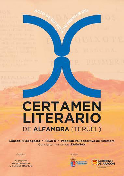 Cartel X Certamen Literario de Alfambra