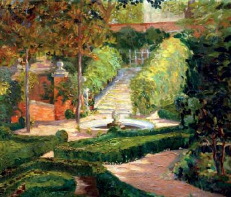 """Cuadro de título: """"Jardín de Altea"""""""