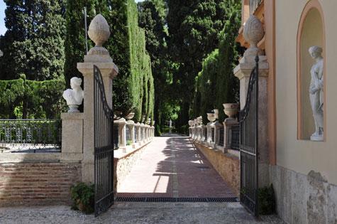 Entrada Jardines de Monforte en Valencia