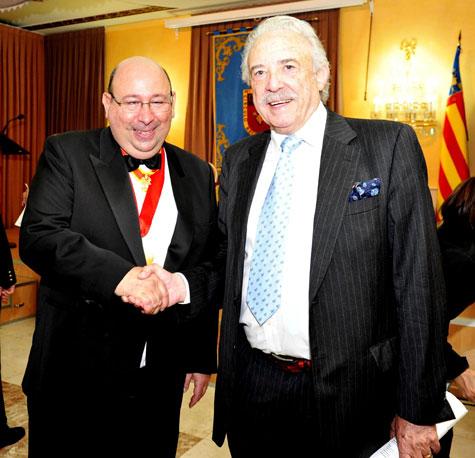 José Hoyo (presidente) y Francisco Ponce (escritor)