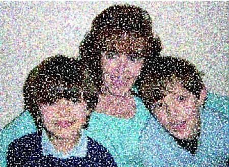 Marichu Fernandez con sus nietos Diego y Pablo