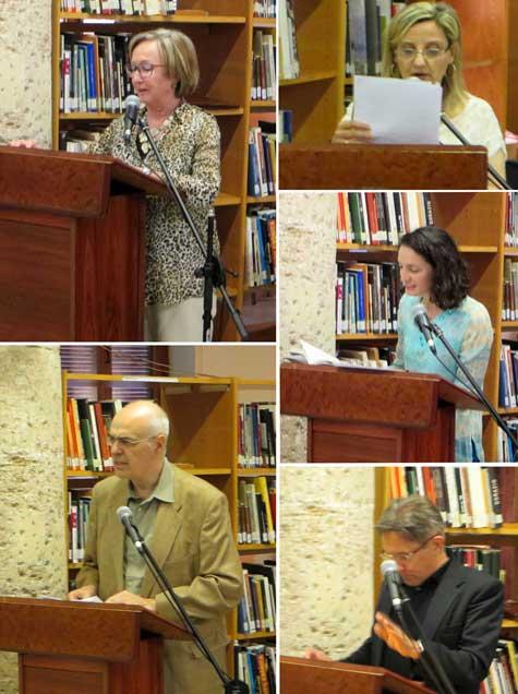 Loas a cargo de poetas y escritores