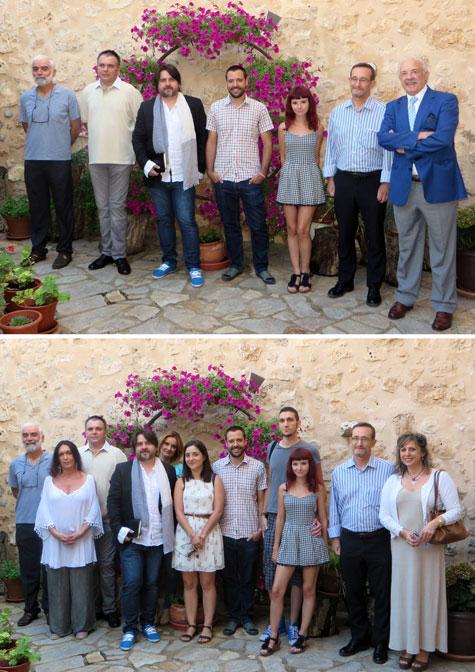 Premiados, organizadores y amigos
