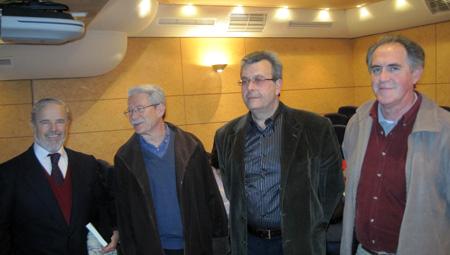 Pedro J. de la Peña (Escritor) - Carlos Pérez (Pintor) - Manuel E. Castillo (Poeta) - Emilo Vazquez (Pintor)
